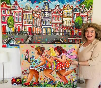 Schilderes Corrie Leushuis uit Hengelo eist dat rechter kopiëren verbiedt: 'Anderen verdienen grof geld met mijn werk'